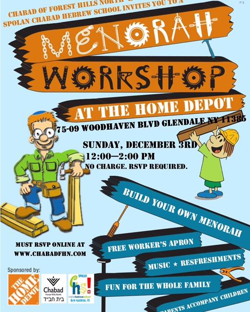 Menorah Workshop At Home Depot Anshe Sholom Chabad Jcc